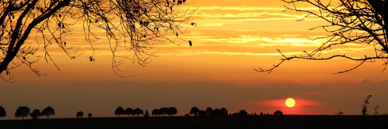 La Bihourderie orange sky sunset