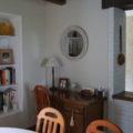 La Bihourderie desk in dining room bookshelf mirror
