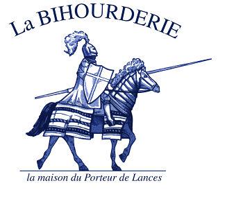 La Bihourderie logo chevalier sur cheval la maison du porteur de lances