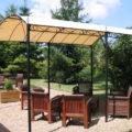 La Bihourderie Terrace for guests wooden chairs