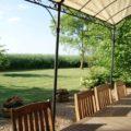 La Bihourderie garden terrace evening meals