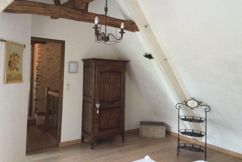 Entrance to Tournesols bedroom wardrobe