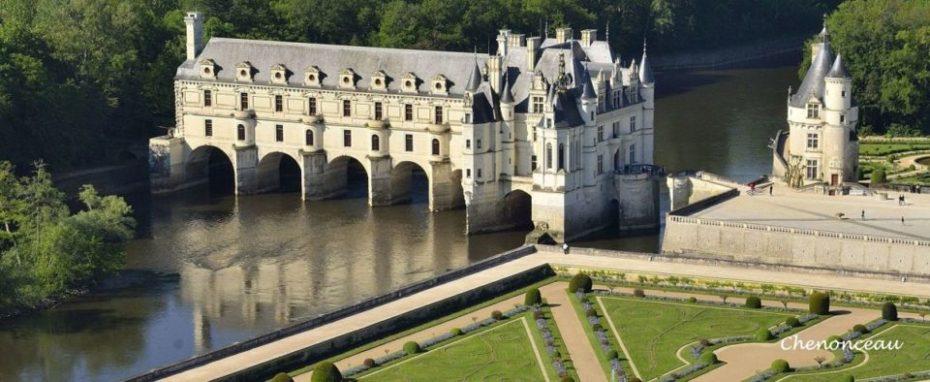 La Bihourderie château de chenonceau on Cher river and gardens
