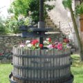 La Bihourderie winepress and flowers