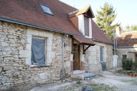 La Bihourderie grouting work French farmhouse